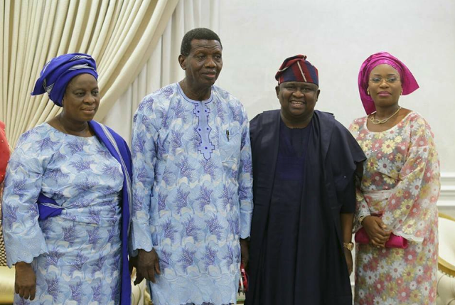 Image result for PAstor Adeboye and Ambode