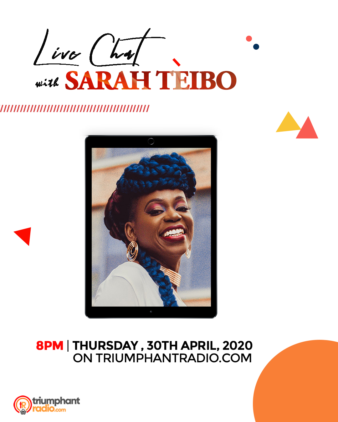 Live Chat with Sarah Teibo